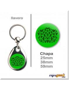 Ll0228 Llavero o Chapa Monsters the big bang theory