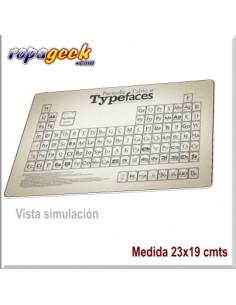 AL0446 Alfombrilla Typefaces